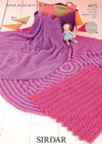 Sirdar Snuggly 4ply - 4475 Blankets Knitting Pattern